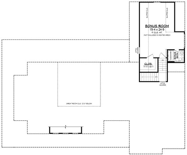House Plan Design - Farmhouse Floor Plan - Upper Floor Plan #430-223