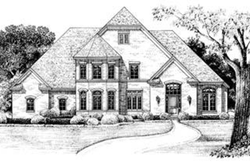 Dream House Plan - European Exterior - Front Elevation Plan #20-847