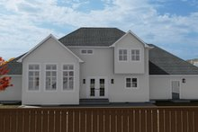 Home Plan - Traditional Exterior - Rear Elevation Plan #1060-62
