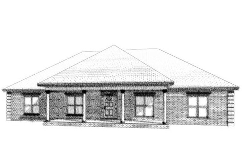 Traditional Style House Plan - 4 Beds 2 Baths 2523 Sq/Ft Plan #63-227 Exterior - Front Elevation