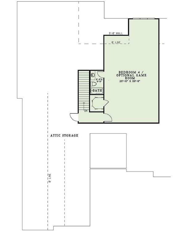 European Floor Plan - Upper Floor Plan Plan #17-2477