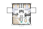 Country Style House Plan - 2 Beds 1.5 Baths 992 Sq/Ft Plan #23-441 Floor Plan - Upper Floor Plan