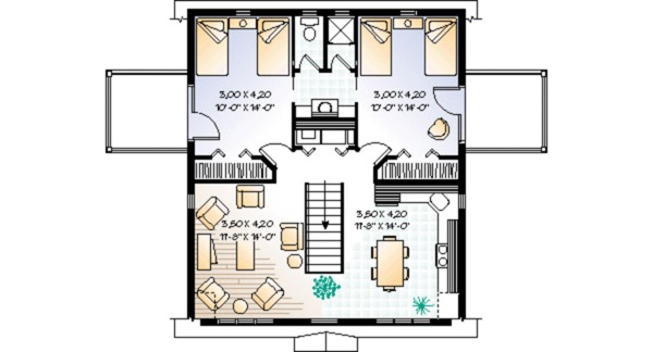 Country Floor Plan - Upper Floor Plan Plan #23-441