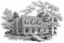 Country Exterior - Front Elevation Plan #14-224