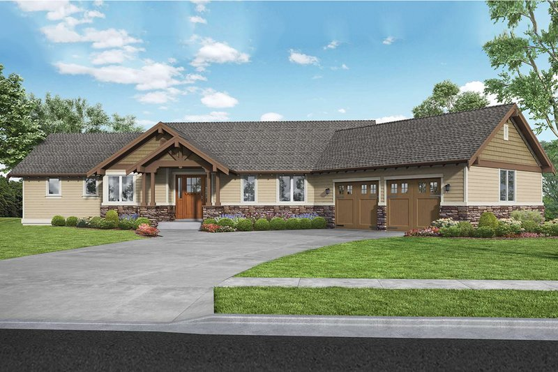 Craftsman Exterior - Front Elevation Plan #48-942
