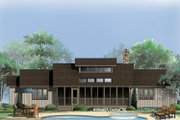 Country Style House Plan - 3 Beds 2.5 Baths 1426 Sq/Ft Plan #929-69 Exterior - Rear Elevation