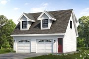 Traditional Style House Plan - 1 Beds 1 Baths 588 Sq/Ft Plan #47-1081 Exterior - Front Elevation