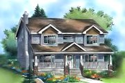 Traditional Style House Plan - 4 Beds 3 Baths 1985 Sq/Ft Plan #18-286 Exterior - Front Elevation