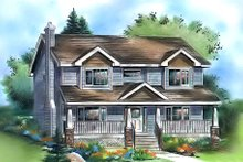 House Plan Design - Traditional Exterior - Front Elevation Plan #18-286