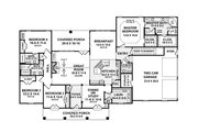 Southern Style House Plan - 4 Beds 3.5 Baths 2601 Sq/Ft Plan #21-216 Floor Plan - Main Floor Plan