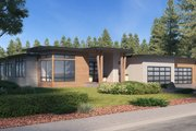 Prairie Style House Plan - 4 Beds 3.5 Baths 4087 Sq/Ft Plan #1066-79 Exterior - Other Elevation