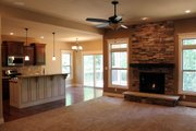 Ranch Style House Plan - 3 Beds 2 Baths 1642 Sq/Ft Plan #20-1869 Interior - Family Room