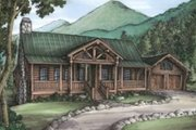 Log Style House Plan - 3 Beds 2 Baths 2185 Sq/Ft Plan #115-156