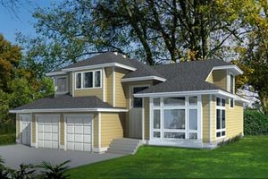 Architectural House Design - Traditional Exterior - Front Elevation Plan #100-415