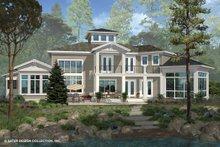 Dream House Plan - Contemporary Exterior - Rear Elevation Plan #930-506