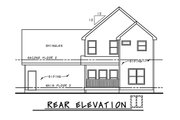 Traditional Style House Plan - 3 Beds 2.5 Baths 2087 Sq/Ft Plan #20-2263 Exterior - Rear Elevation