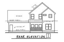 Home Plan - Traditional Exterior - Rear Elevation Plan #20-2263