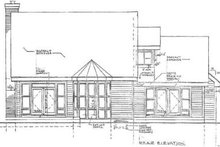 European Exterior - Rear Elevation Plan #3-141