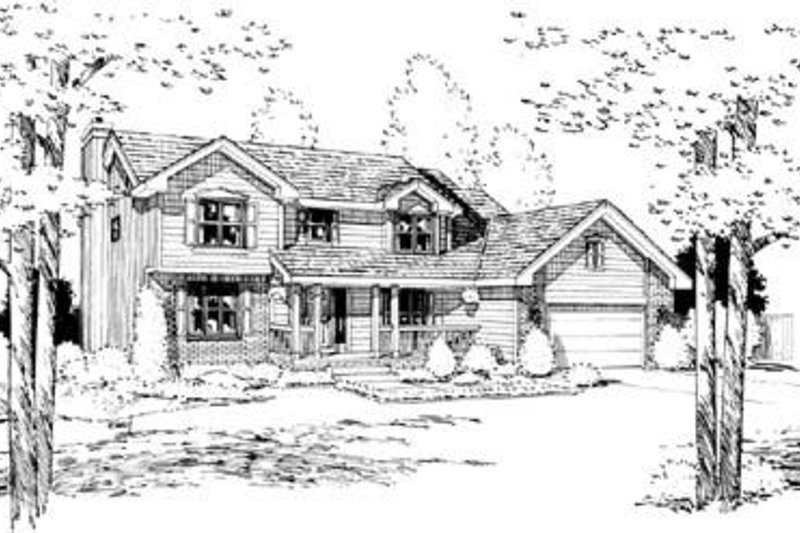 Traditional Exterior - Front Elevation Plan #20-930 - Houseplans.com