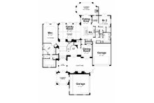 European Floor Plan - Main Floor Plan Plan #20-2175