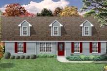 House Design - Country Exterior - Front Elevation Plan #84-476