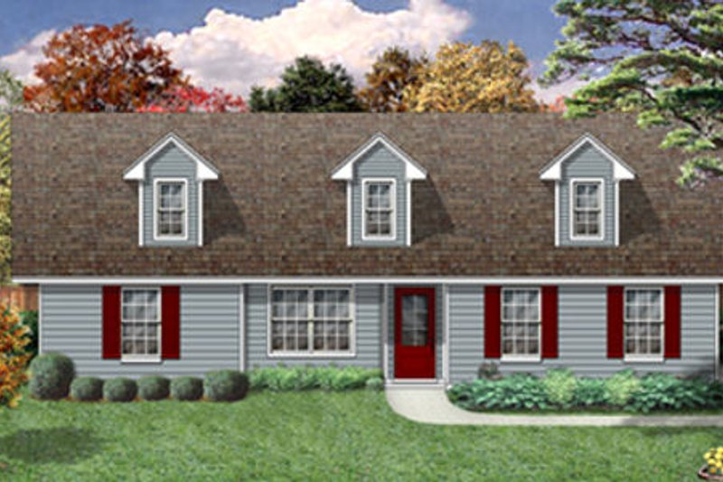 Country Exterior - Front Elevation Plan #84-476 - Houseplans.com