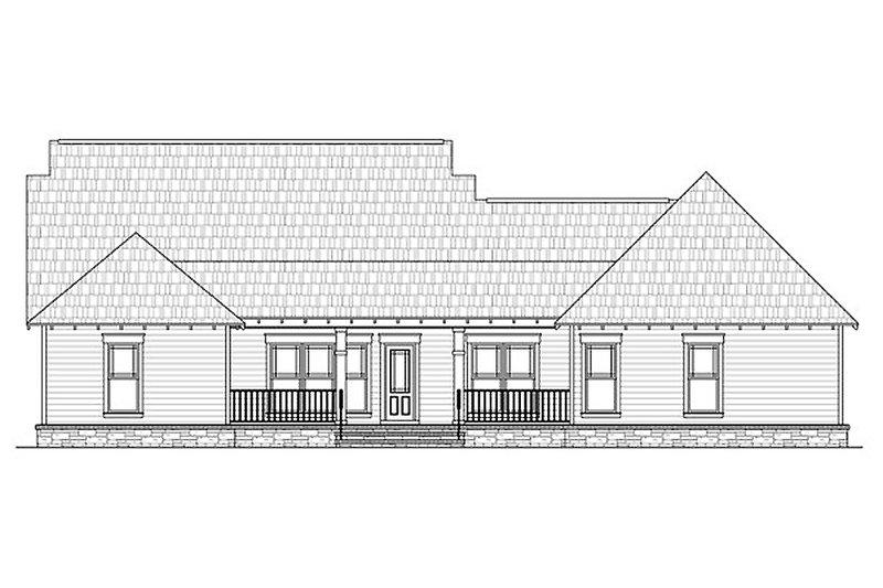 Traditional Exterior - Rear Elevation Plan #21-290 - Houseplans.com