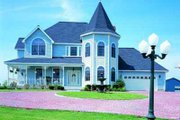 Victorian Style House Plan - 4 Beds 2.5 Baths 2496 Sq/Ft Plan #72-149 Exterior - Front Elevation