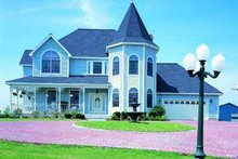 House Blueprint - Victorian Exterior - Front Elevation Plan #72-149
