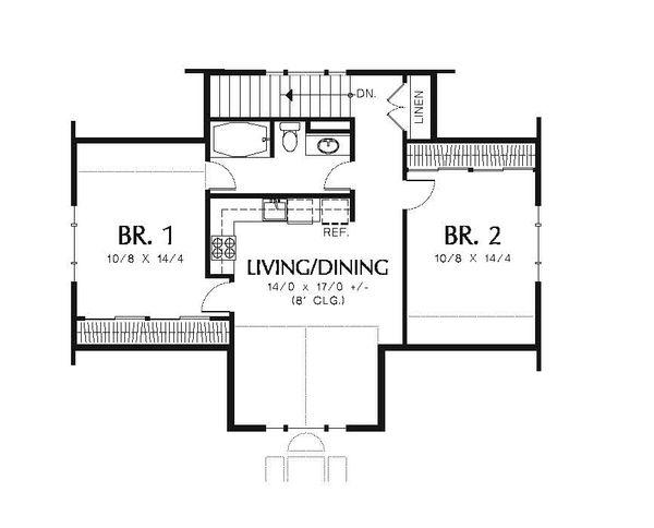 Traditional Floor Plan - Upper Floor Plan Plan #48-550