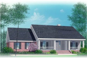 Ranch Exterior - Front Elevation Plan #15-141