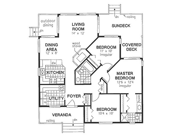 Traditional Floor Plan - Main Floor Plan Plan #18-175