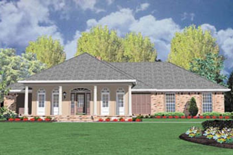 Architectural House Design - Traditional Exterior - Front Elevation Plan #36-181