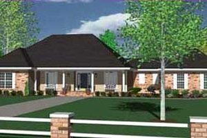 Ranch Exterior - Front Elevation Plan #36-477