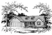 Ranch Style House Plan - 3 Beds 2.5 Baths 1635 Sq/Ft Plan #22-522 Exterior - Other Elevation