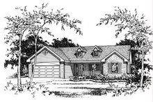 House Plan Design - Ranch Exterior - Other Elevation Plan #22-522