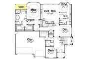 European Style House Plan - 4 Beds 3.5 Baths 3947 Sq/Ft Plan #20-1393 Floor Plan - Main Floor