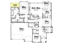 European Floor Plan - Main Floor Plan Plan #20-1393