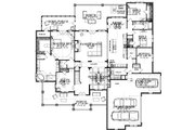 Craftsman Style House Plan - 5 Beds 3 Baths 4425 Sq/Ft Plan #63-392 Floor Plan - Main Floor Plan