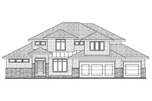 Modern Exterior - Front Elevation Plan #20-2268