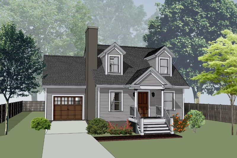 Traditional Style House Plan - 3 Beds 2 Baths 1223 Sq/Ft Plan #79-148