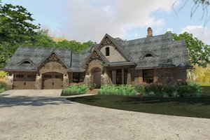 Craftsman Exterior - Front Elevation Plan #120-193