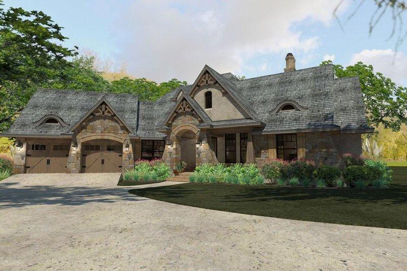 Dream House Plan - Craftsman Exterior - Front Elevation Plan #120-193