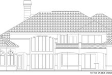 House Design - Mediterranean Exterior - Rear Elevation Plan #930-442