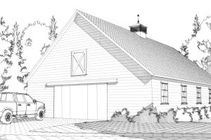 Country Exterior - Front Elevation Plan #63-332