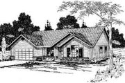 Ranch Style House Plan - 3 Beds 2 Baths 1515 Sq/Ft Plan #124-272 Exterior - Front Elevation