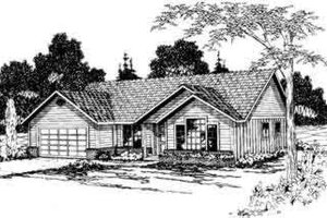 Ranch Exterior - Front Elevation Plan #124-272