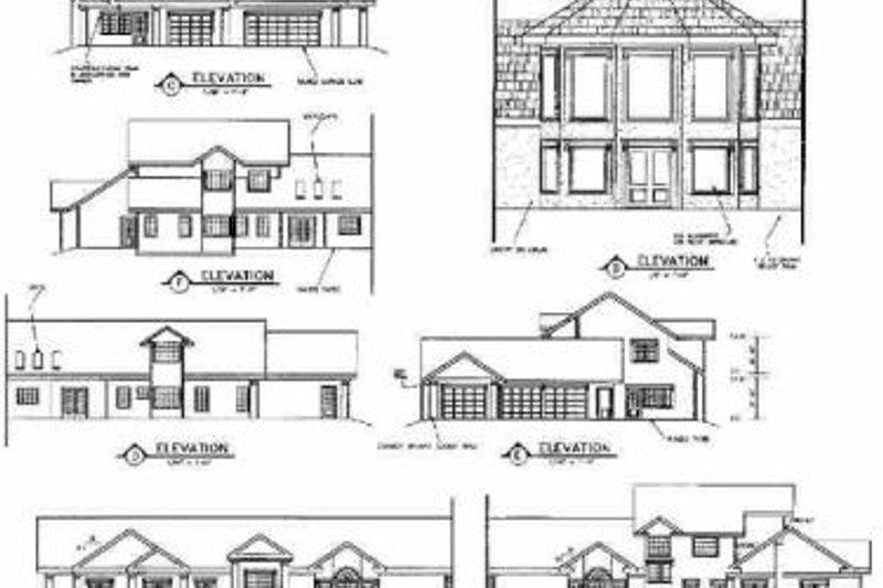 Traditional Exterior - Rear Elevation Plan #60-519 - Houseplans.com