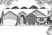 Traditional Style House Plan - 3 Beds 2 Baths 1457 Sq/Ft Plan #58-138 Exterior - Front Elevation