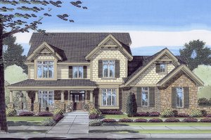 Craftsman Exterior - Front Elevation Plan #46-442